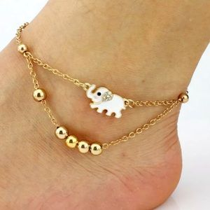 {NOVA} gold elephant anklet bracelet